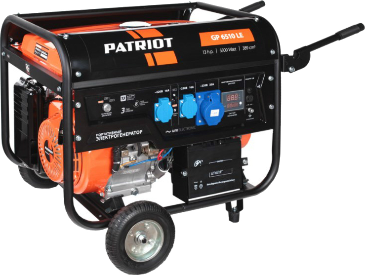 Бензиновый генератор PATRIOT GP 6510LE